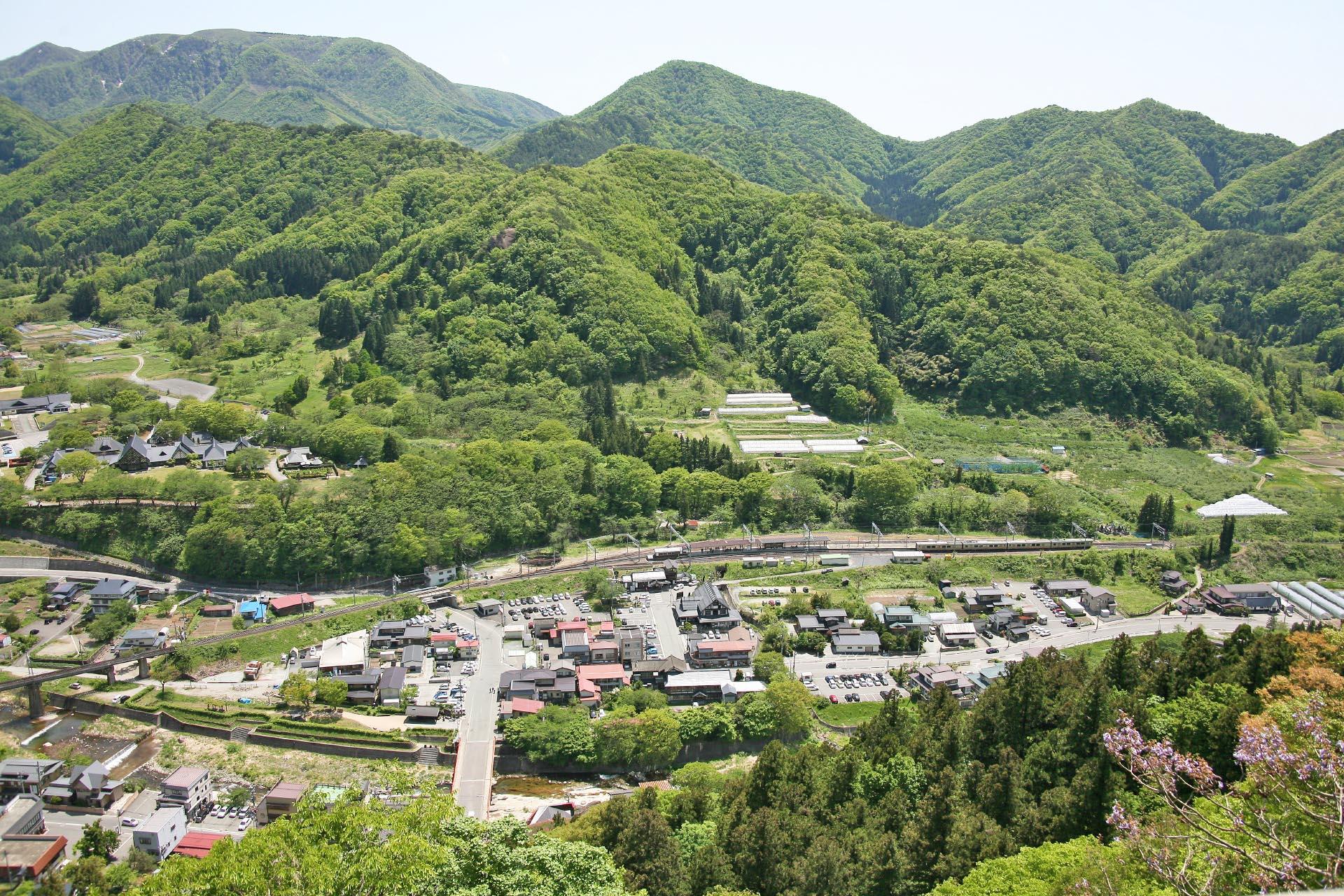 山寺から見る風景 山形の風景