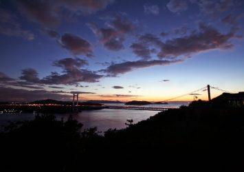 鷲羽山から見る瀬戸内海の夕暮れの風景 岡山の風景