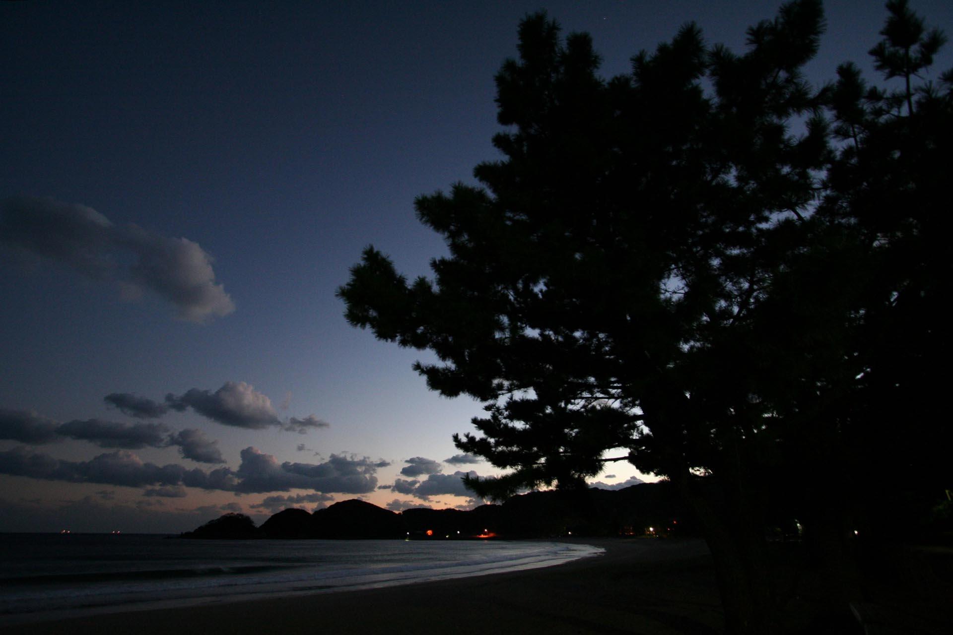 夕暮れの弓ヶ浜 伊豆下田 静岡の風景