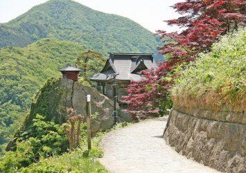 山寺の風景 山形の風景