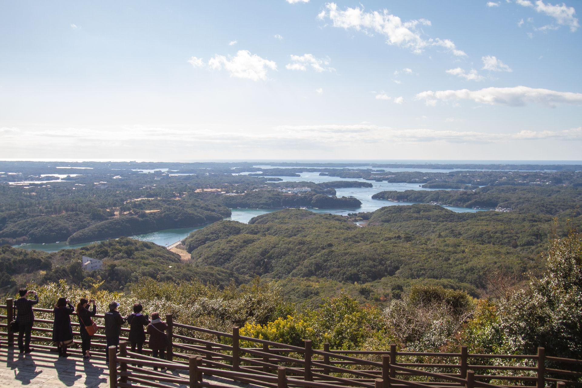 横山展望台から見る英虞湾 三重の風景