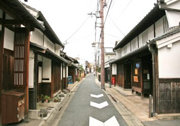 奈良の古い町並み 奈良の風景