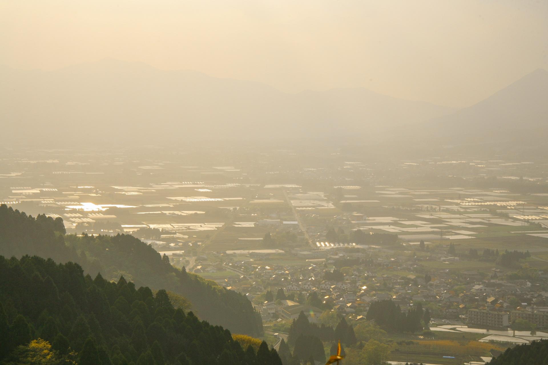 高森峠から見る風景 熊本の風景