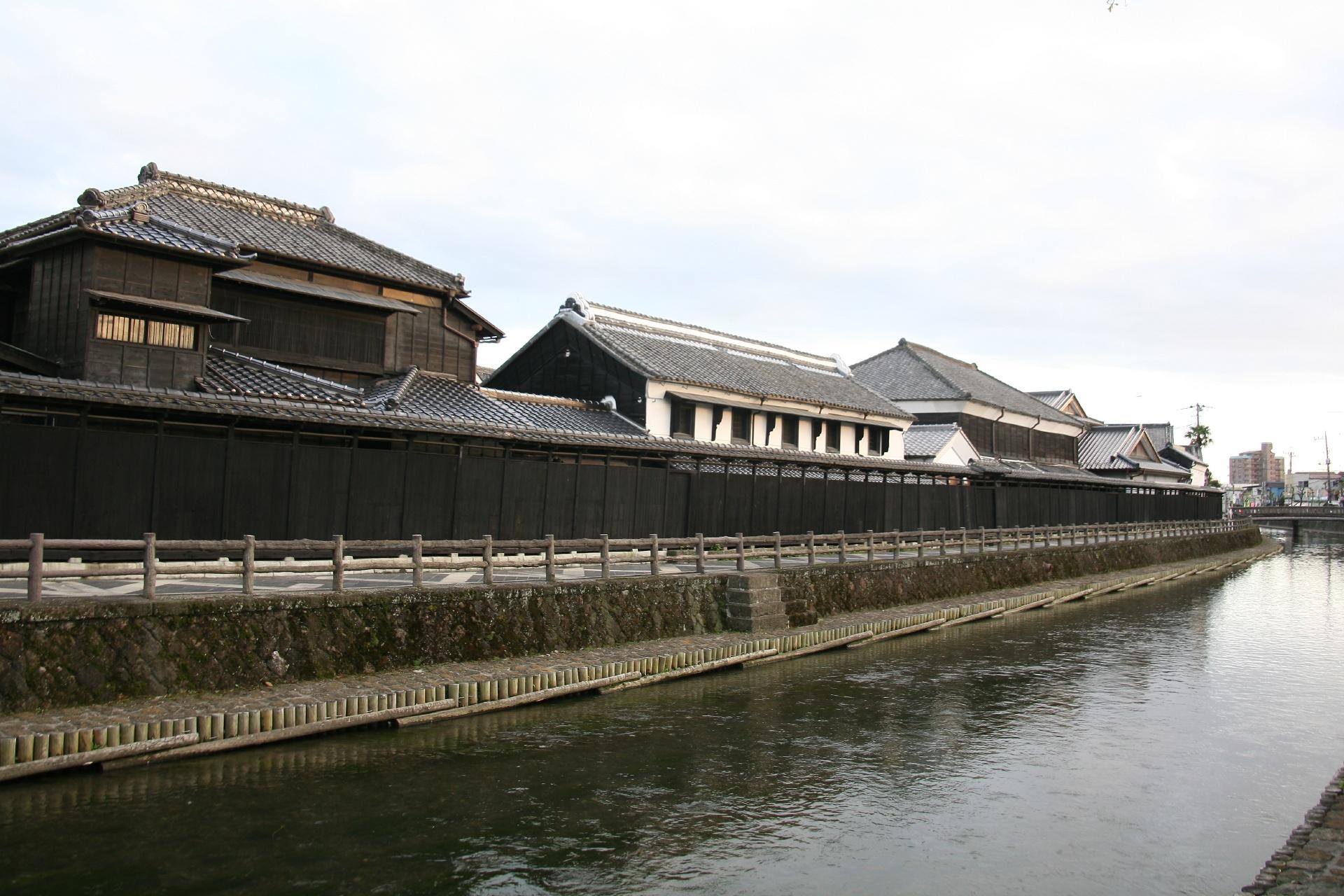 栃木市 蔵の町並み 巴波川沿いの風景 栃木の風景