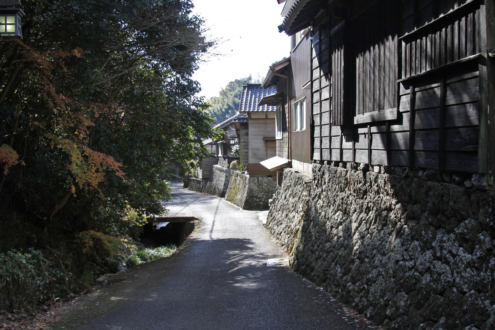 焼津市花沢の伝統的な古い町並み 静岡の風景