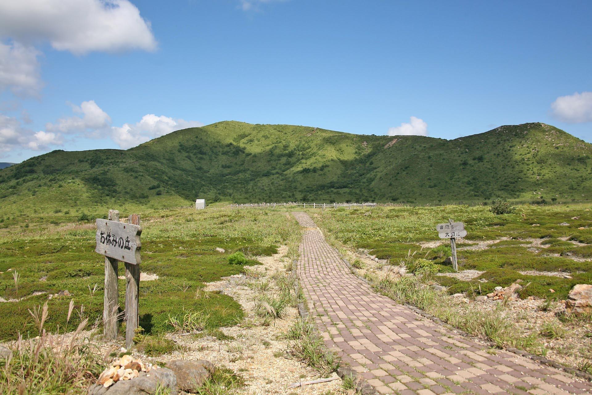 夏の恵山 北海道の風景