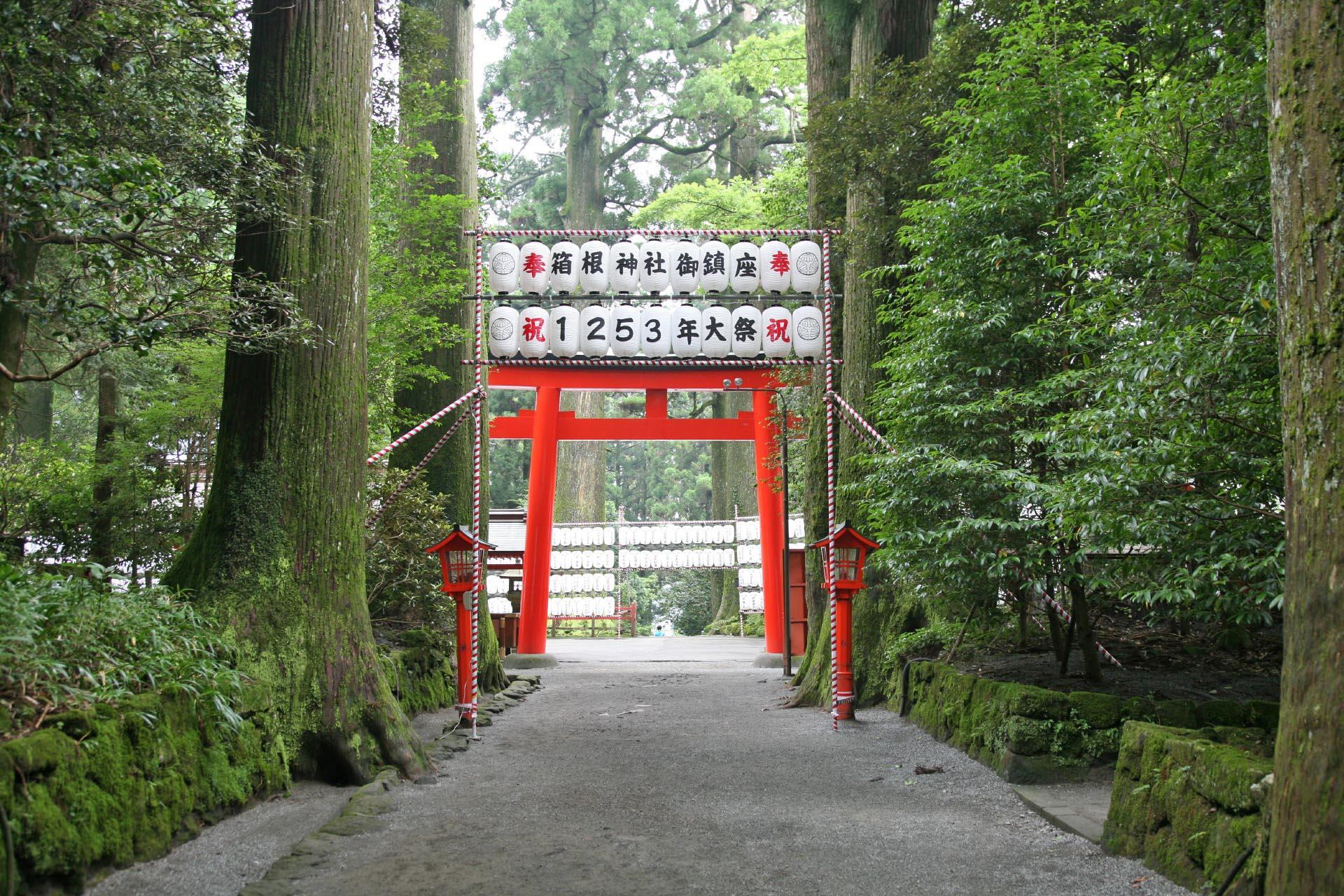 夏の箱根神社 神奈川の風景