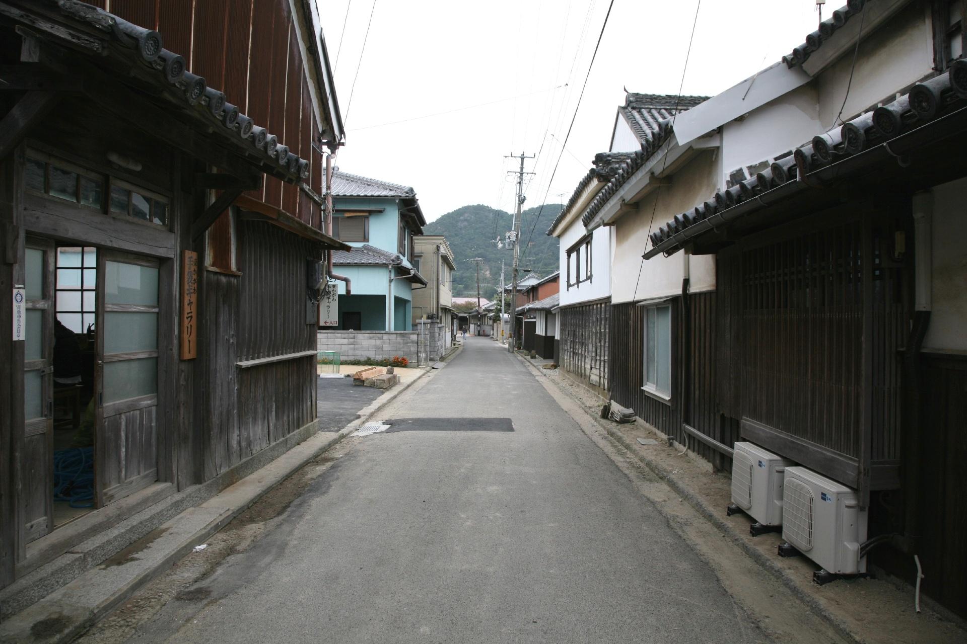 東かがわ 引田の町並み 香川の風景
