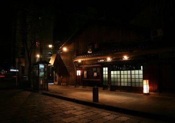 夜の祇園白川 京都の風景