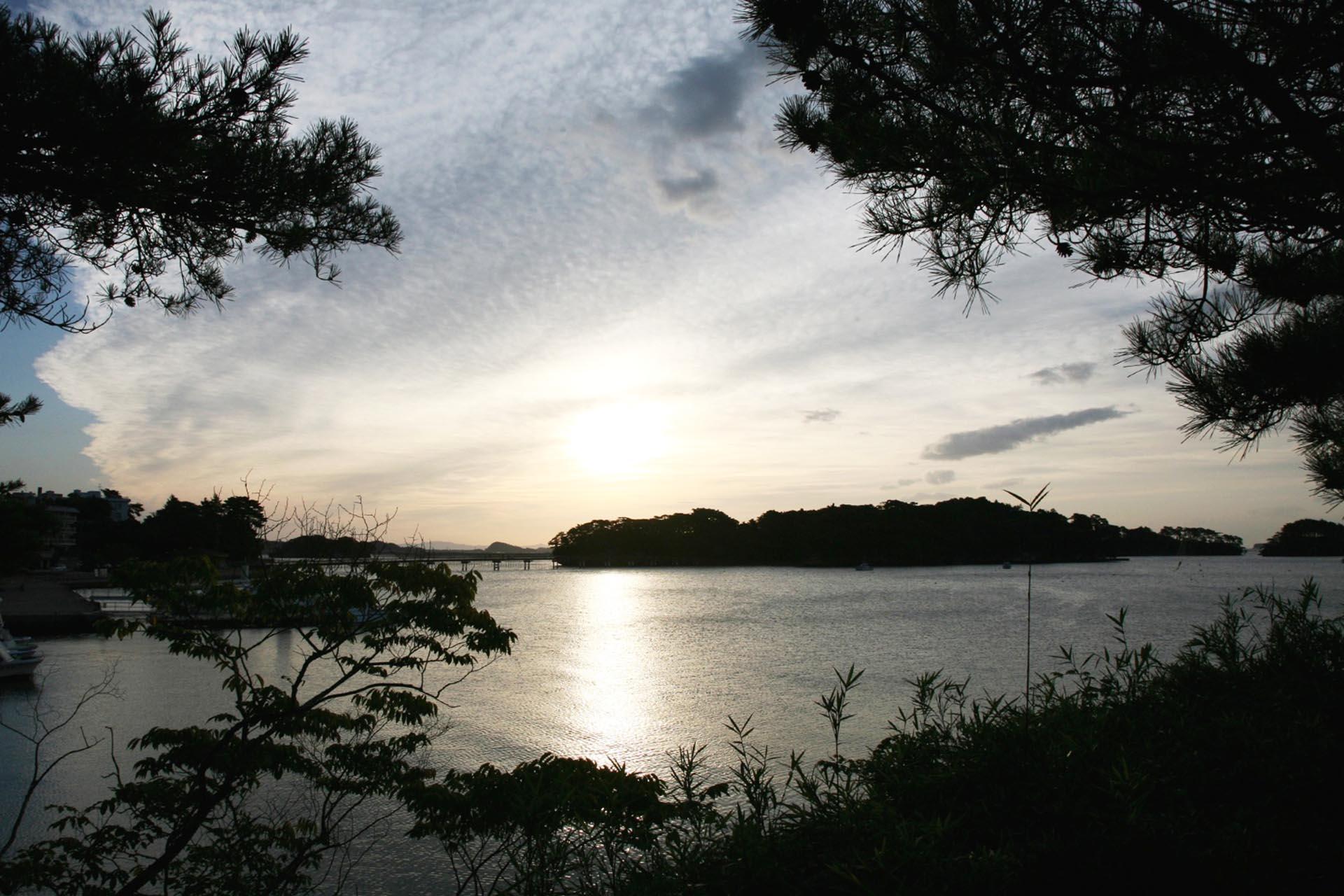 朝の松島の風景 宮城の風景