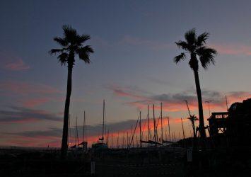 夕暮れの江の島の風景 神奈川の風景