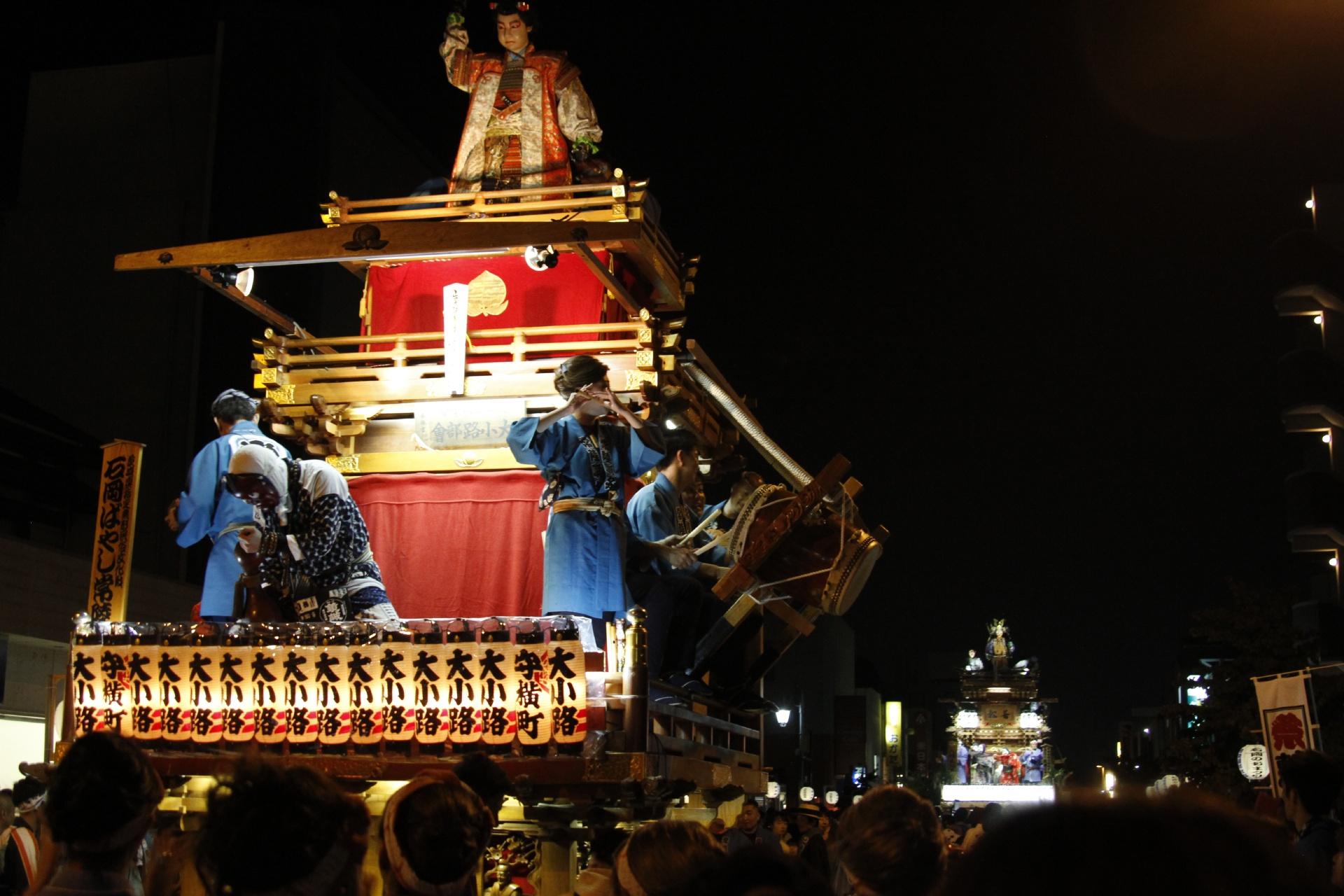 石岡のおまつり 茨城の風景