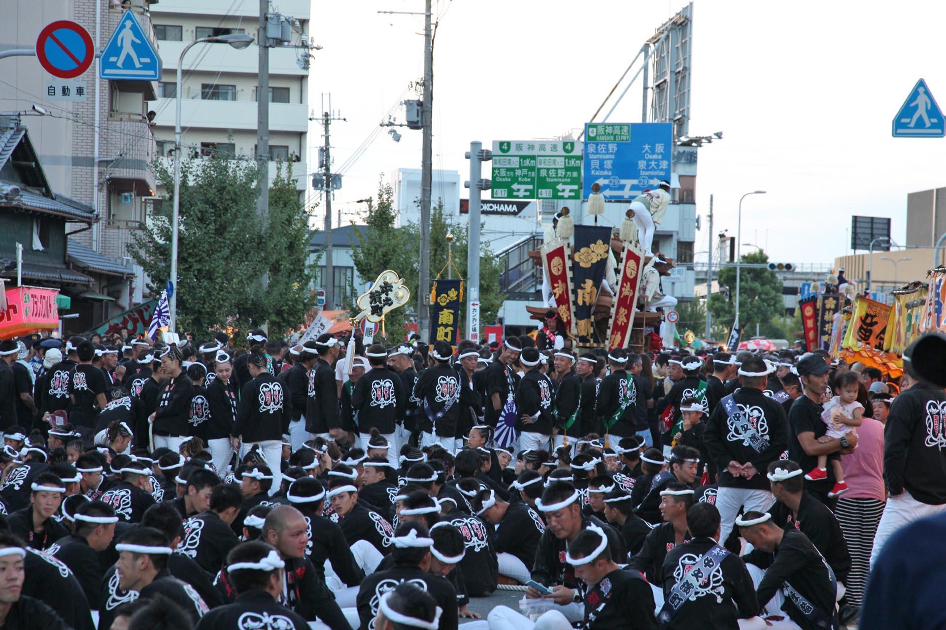 岸和田だんじり祭 大阪の風景