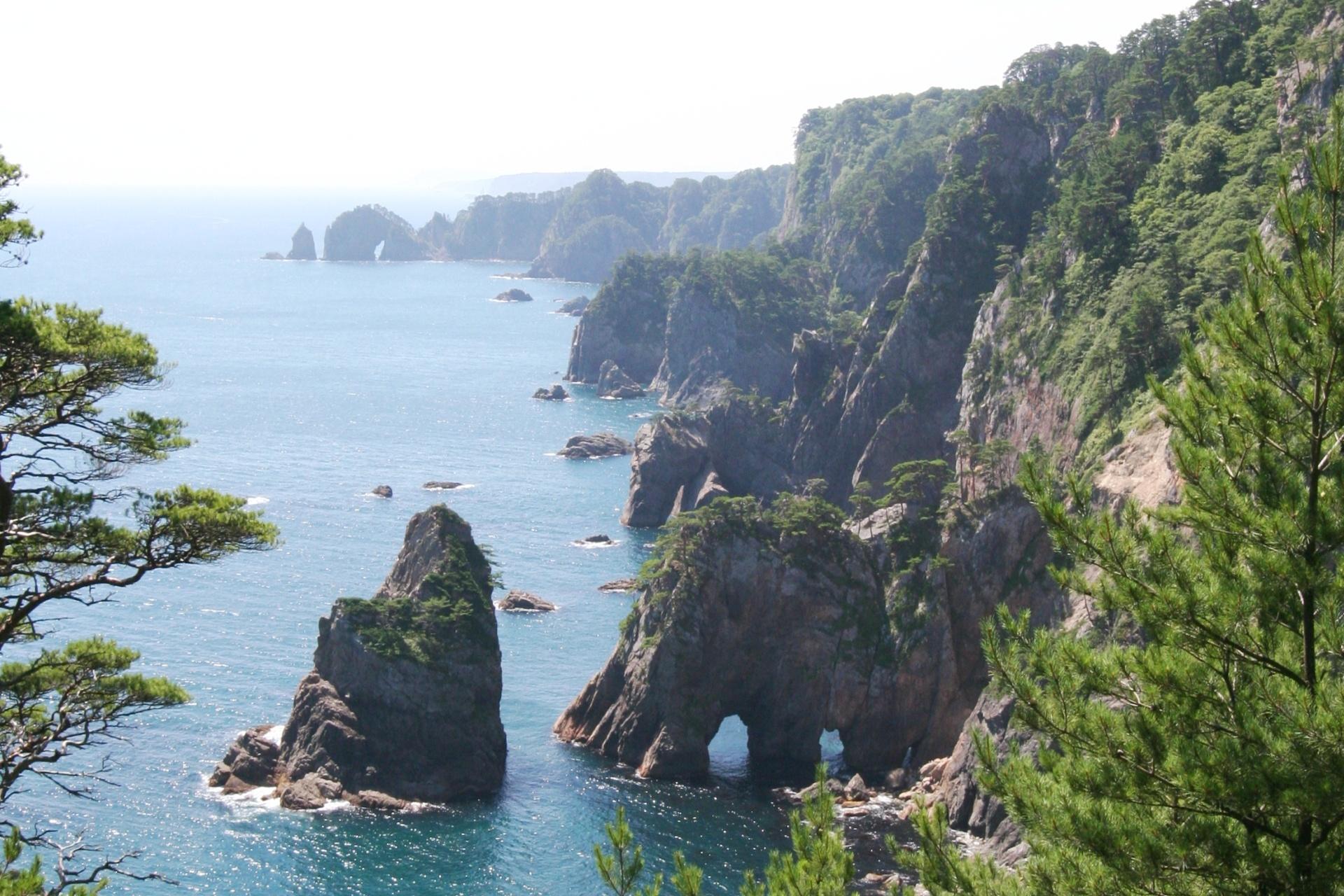 北山崎の絶景 岩手の風景