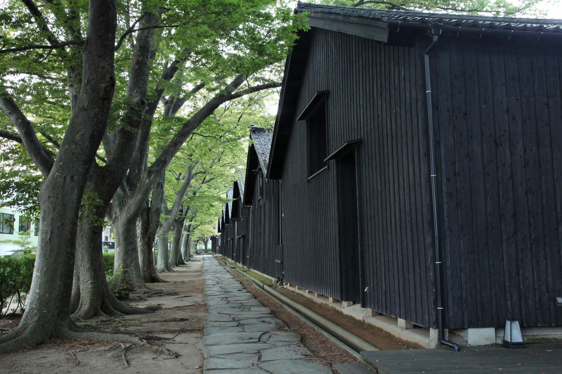 山居倉庫の風景 山形の風景