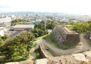 鳥取城跡と鳥取の町並み 鳥取の風景