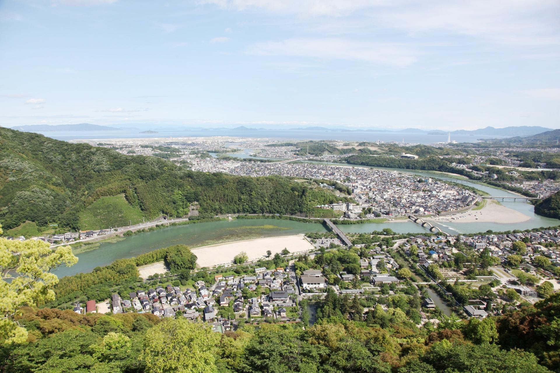 岩国城から見る風景 山口の風景