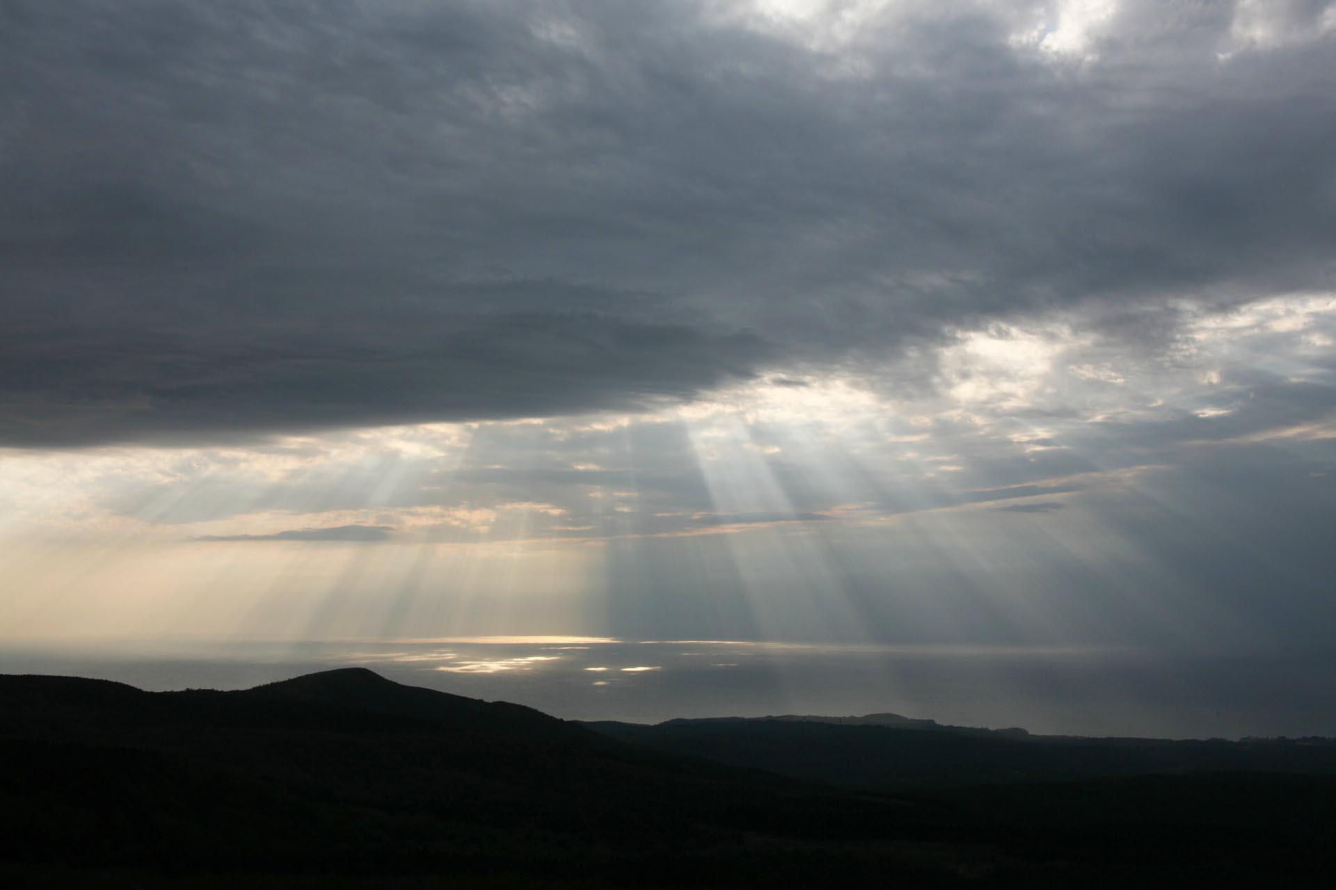 鳥海山から見る風景 秋田の風景