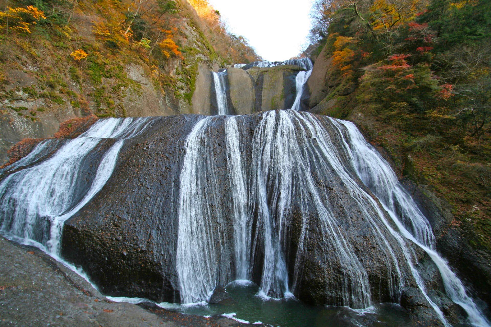 秋の袋田の滝 茨城の風景