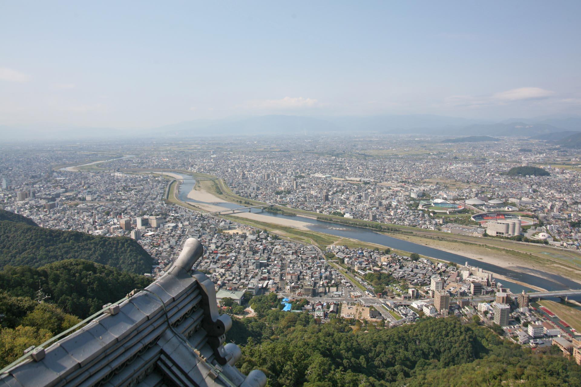 岐阜城から眺める岐阜の街並み 岐阜の風景