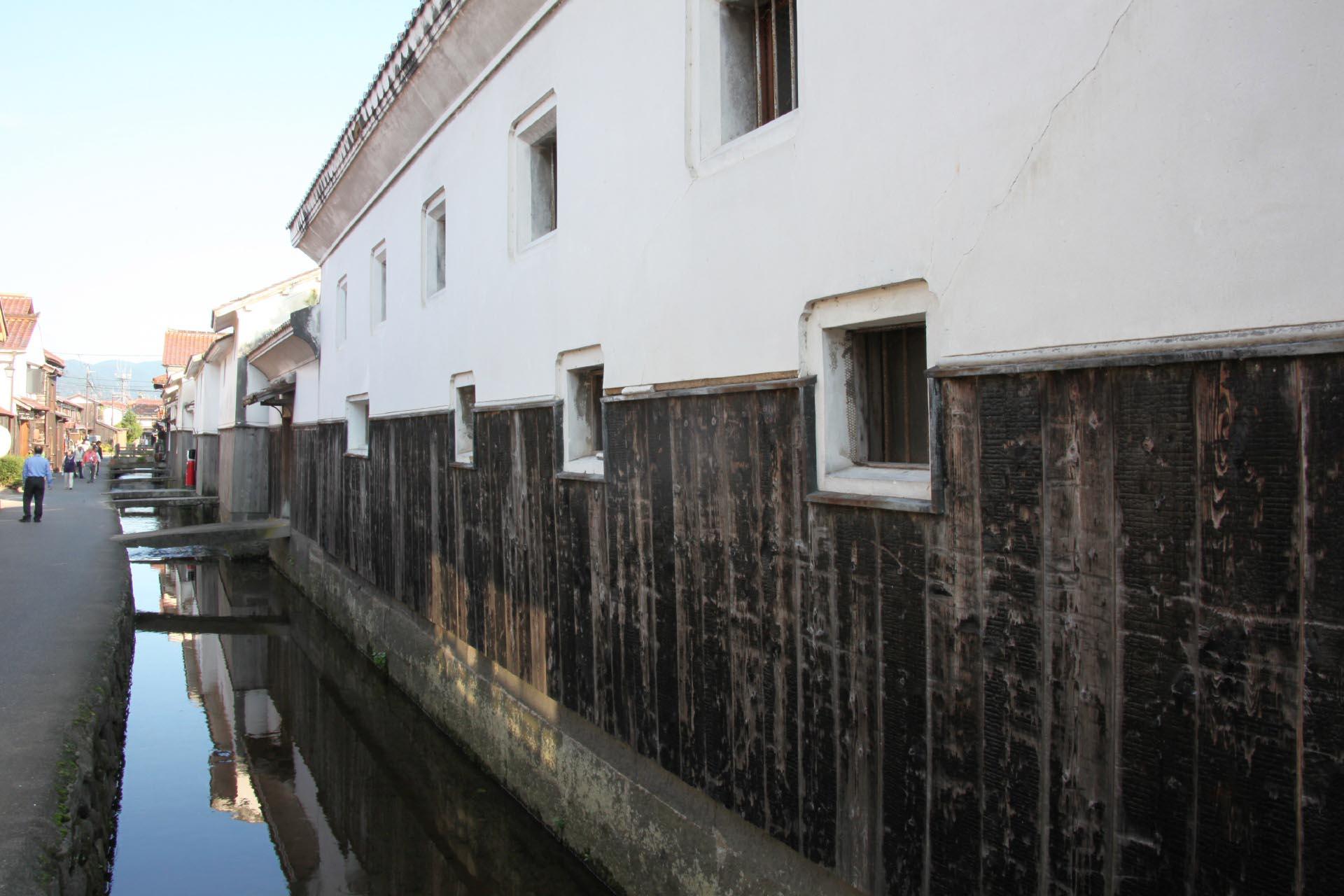 倉吉白壁土蔵群の町並み 鳥取の風景