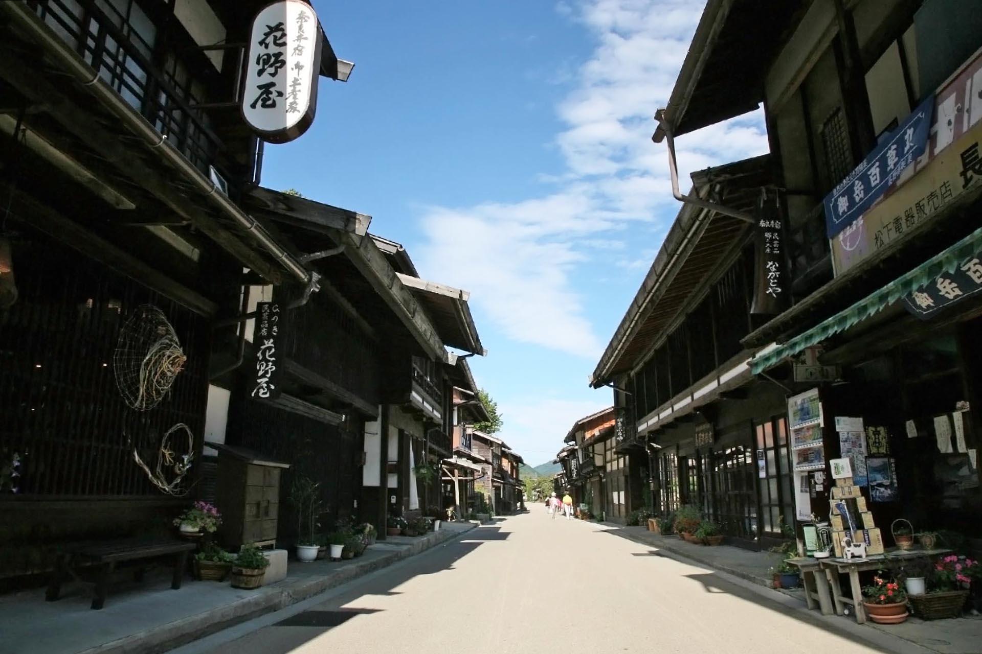 日本の古い町並み「奈良井宿」 長野の風景