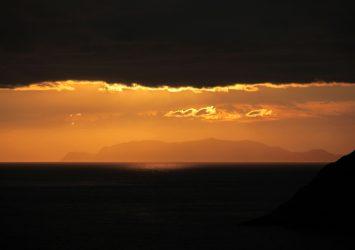 夕暮れの足摺岬 高知の風景