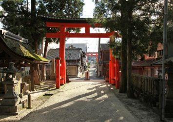 宇太水分神社 奈良の風景