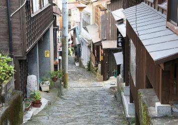 湯平温泉 温泉街 大分の風景
