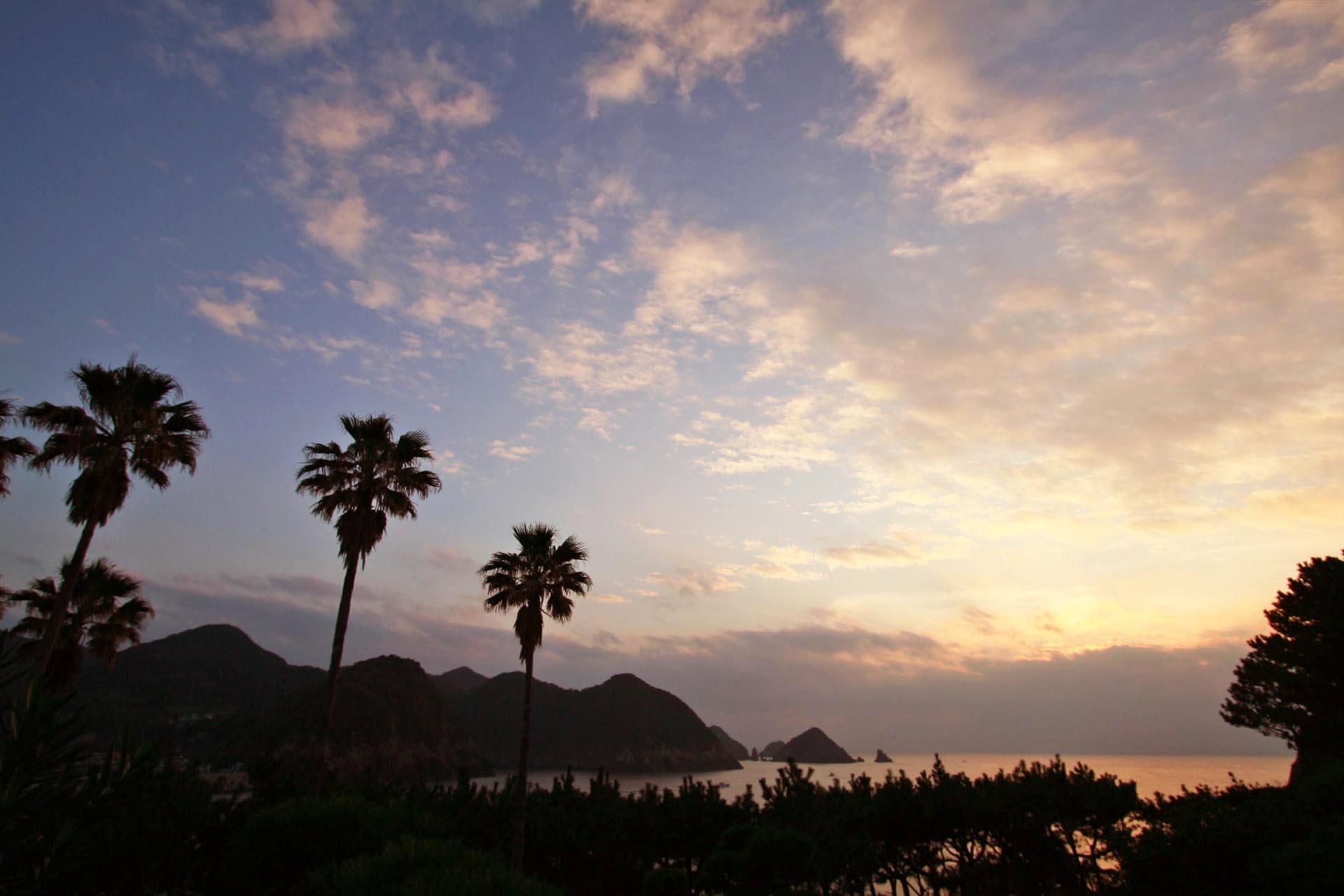 夕暮れの坊津の風景 鹿児島の風景