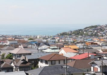 鎌倉・七里ヶ浜の町並み 神奈川の風景