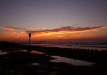 朝焼けの九十九里浜 千葉の風景