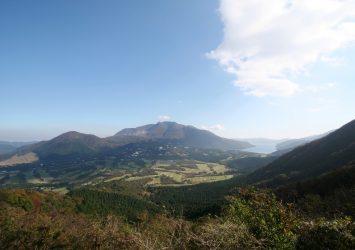 長尾峠から見る箱根の風景 神奈川の風景