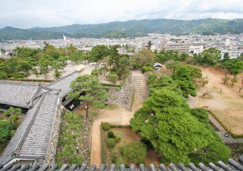 高知城からの眺め 高知の風景