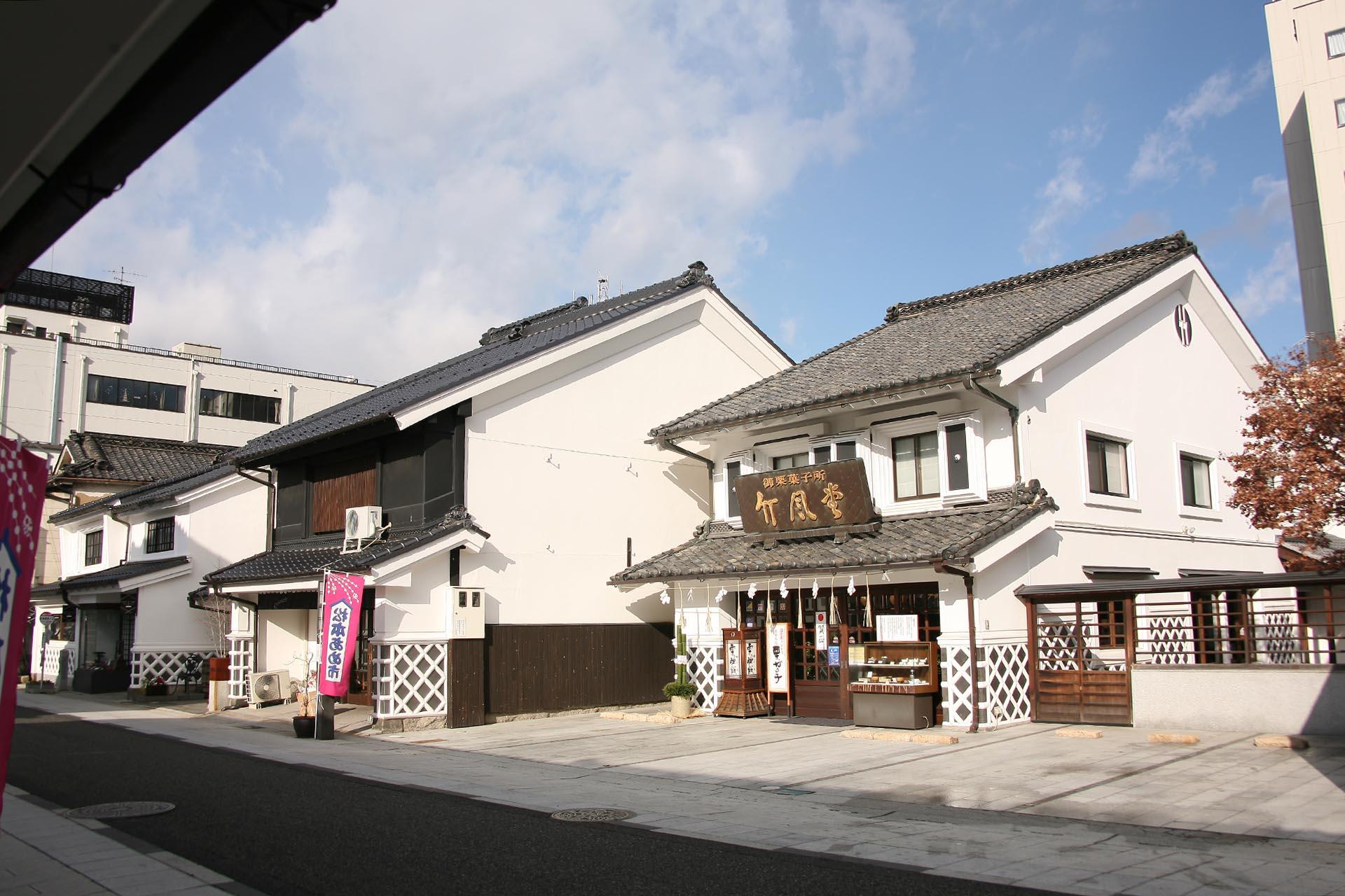 日本の正月風景 松本市「中町通り」の正月の風景 長野の風景