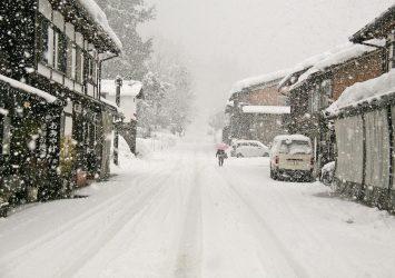 雪の白川郷 岐阜の風景