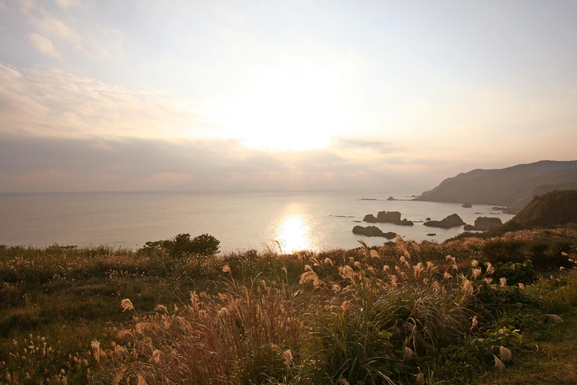 枕崎の夕暮れ 鹿児島の風景