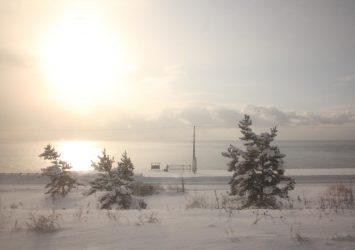 北斗星の車窓から見る北海道の冬の朝の風景 北海道の風景