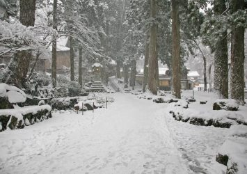 雪の永平寺 福井の風景