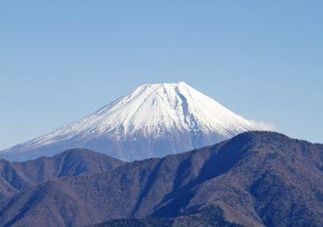 身延山から見る富士山 山梨の風景