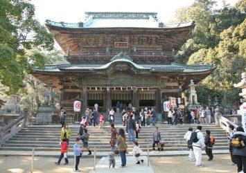 日本の正月の風景 金刀比羅宮 香川の風景