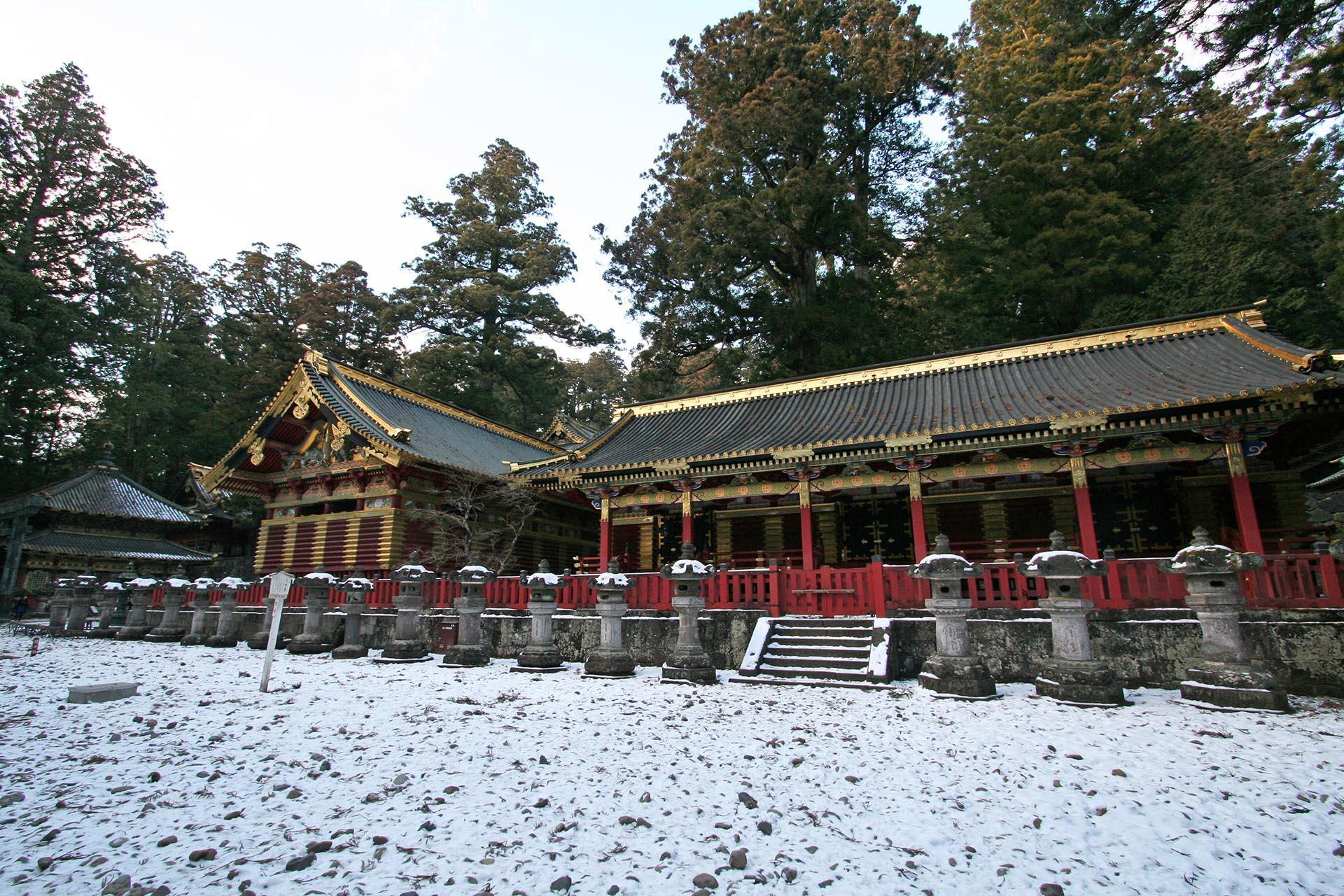 冬の日光東照宮 栃木の風景