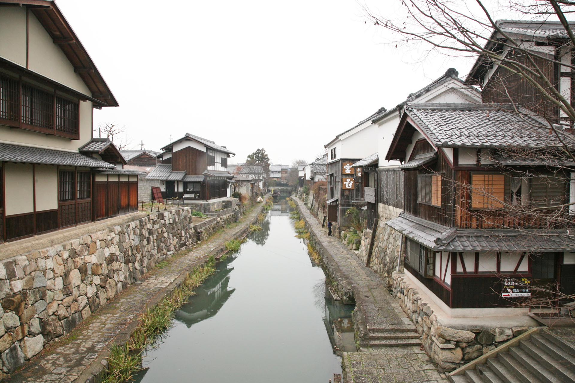 冬の近江八幡の風景 滋賀の風景