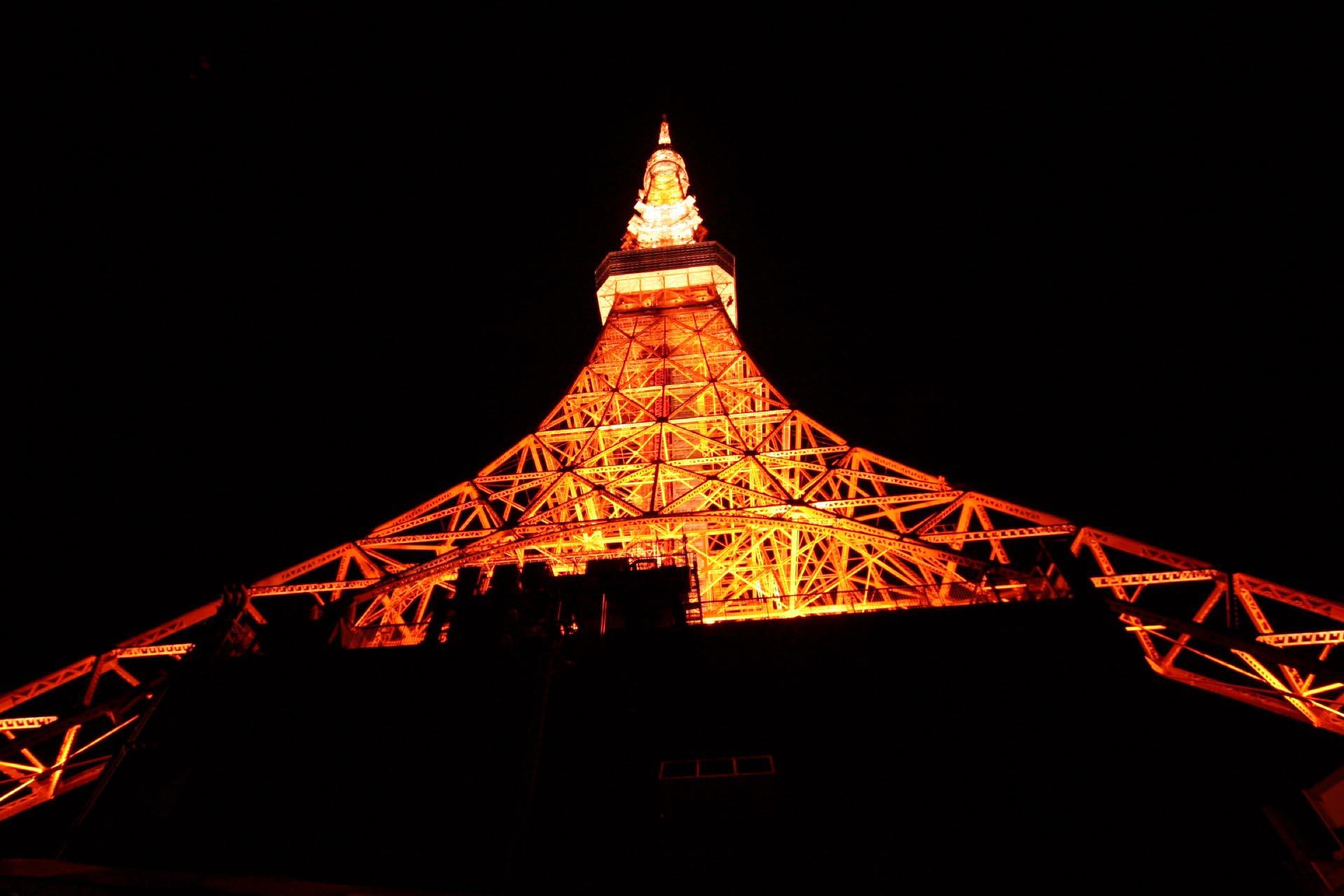 夜の東京タワー 東京の風景