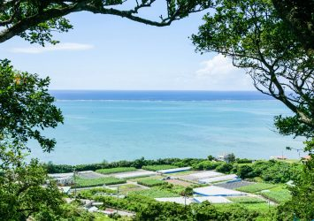 知念城跡から見る風景 沖縄の風景