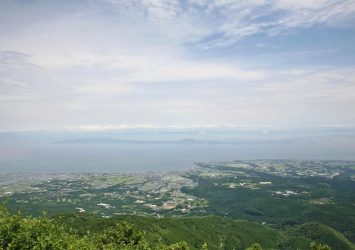 仁田峠から見る島原の風景 長崎の風景