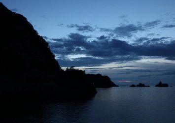 夕暮れの日本海 兵庫の風景