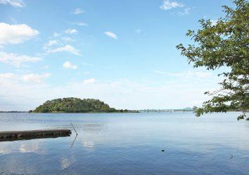 湖山池の風景 鳥取の風景
