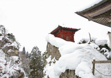 雪の山寺 山形の風景