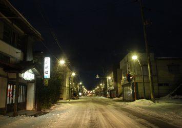 冬の夜 青森の風景